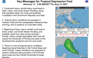 Tropical Storm Fred Update 8.12.21